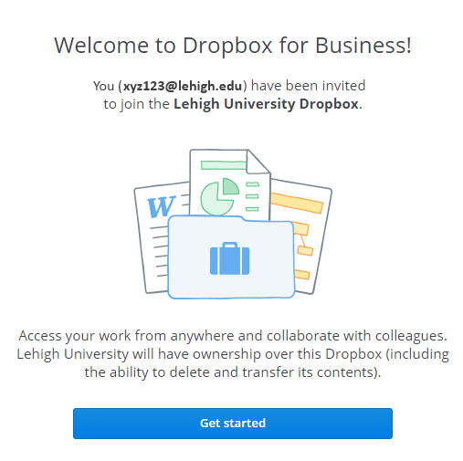Accessing A Lehigh Dropbox Account Library Technology Services