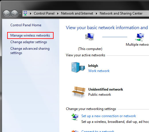 Configure Wireless on Windows (Win 7,8 and 10) | Library