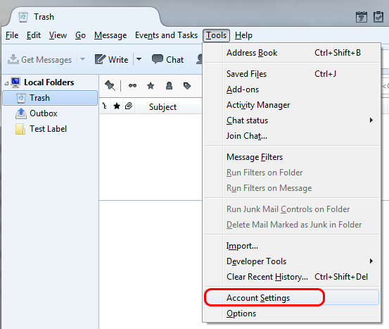 Migrate Local Folders from Thunderbird to Lehigh Gmail