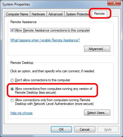Setup Remote Desktop Assistant on PC