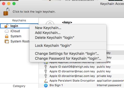 uninstall keychain on mac