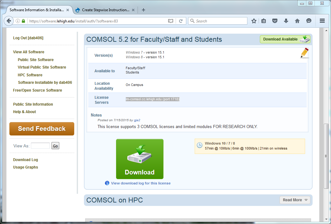 Comsol 3 4 license for Consul license