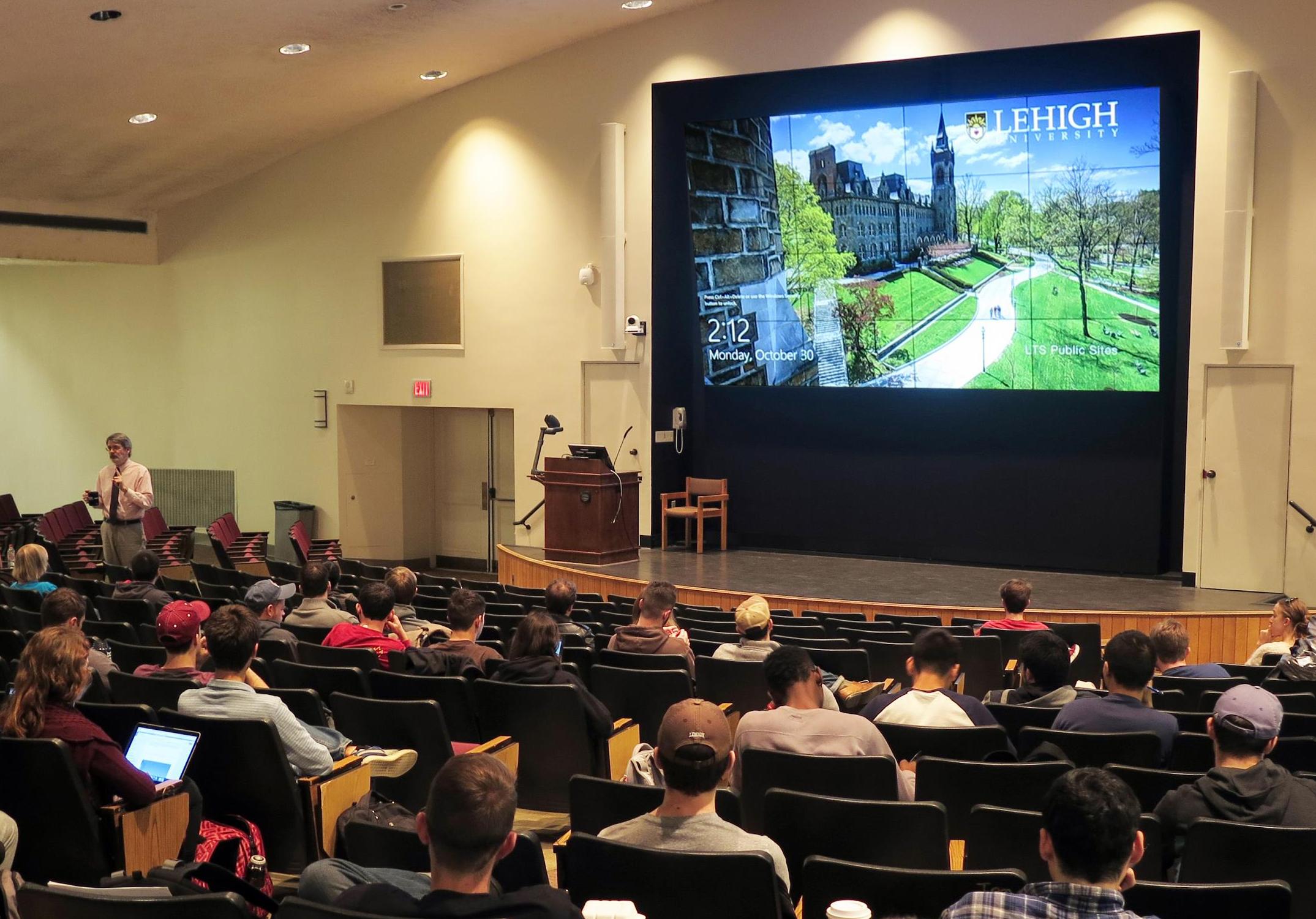 Packard Lab 101 high tech auditorium