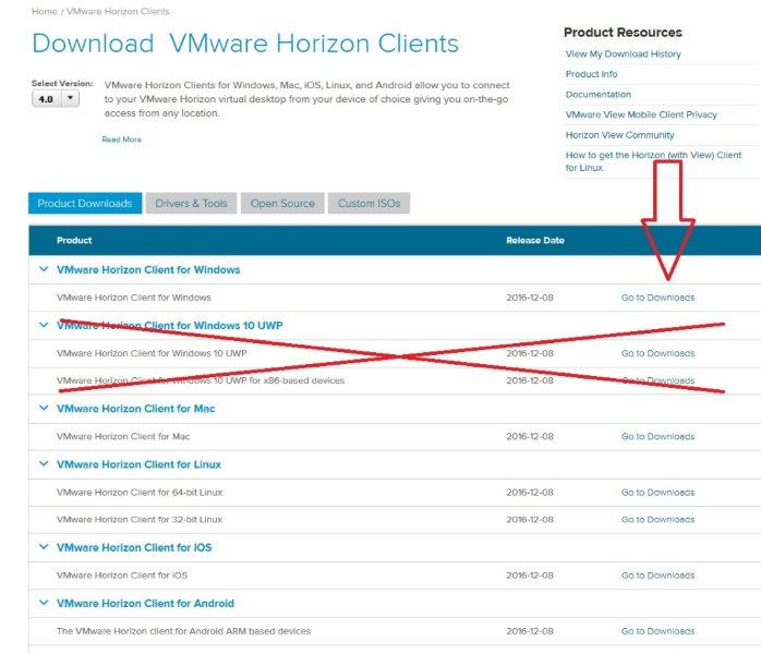 download vmware view client windows 10