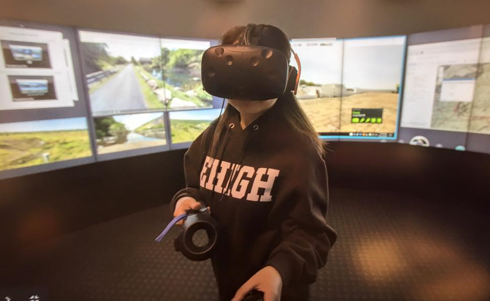 Lehigh University Visualization Lab virtual reality demonstration