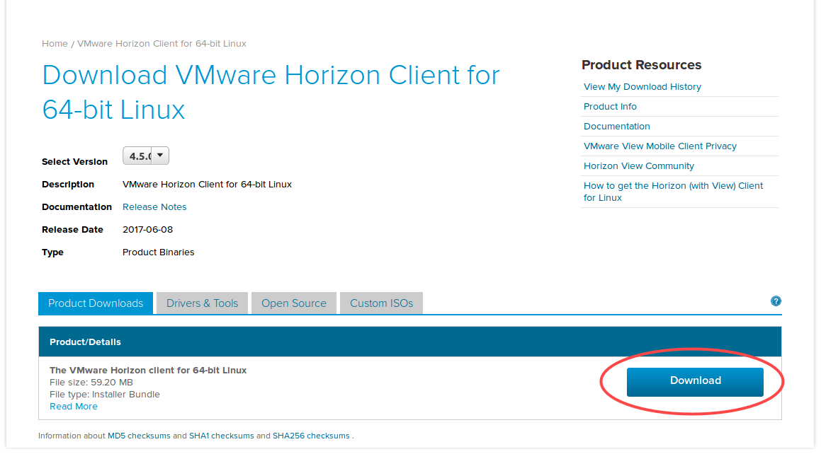 Install the VMWare Horizon Client on Linux | Library