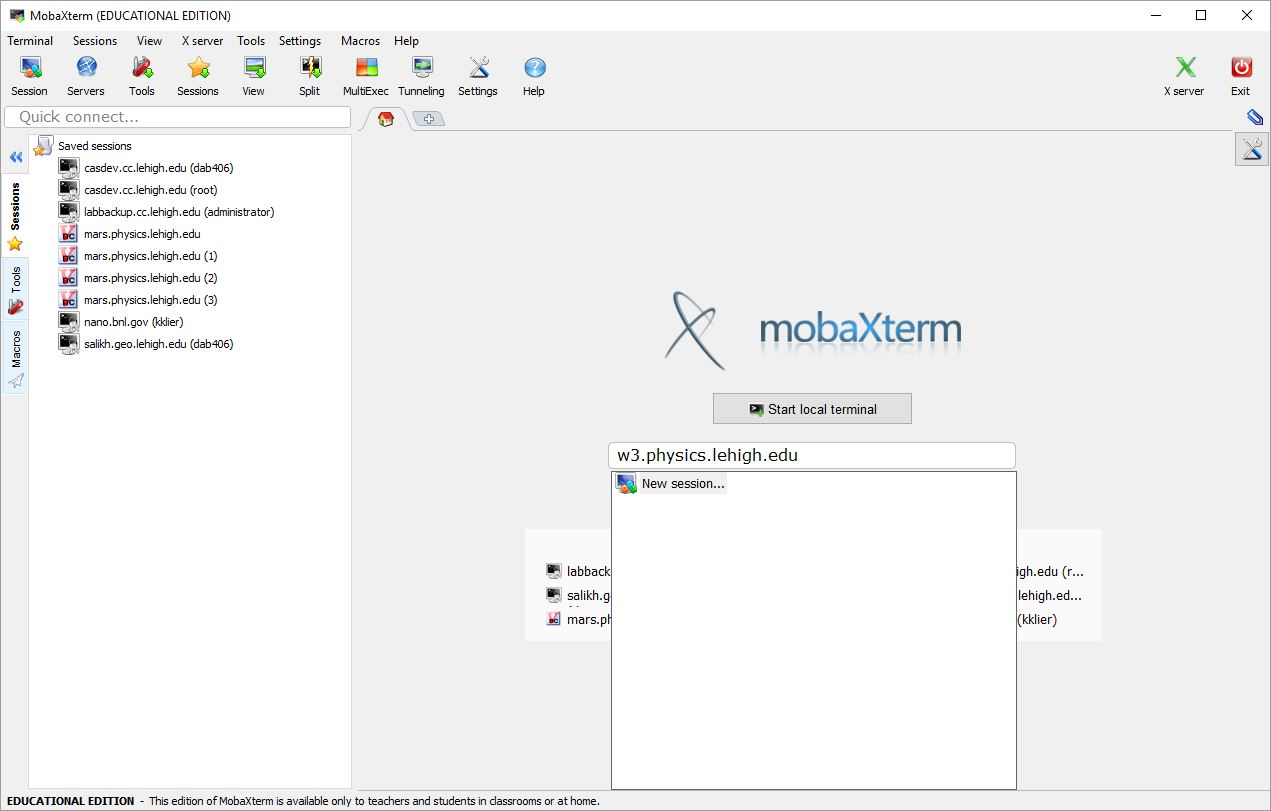 Mobaxterm proxy | X11 forwarding via SSH and su  2019-02-28