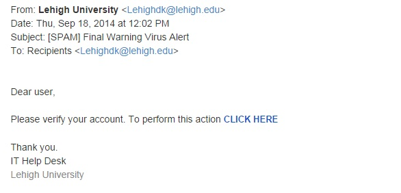 Fake Virus Alert Warning