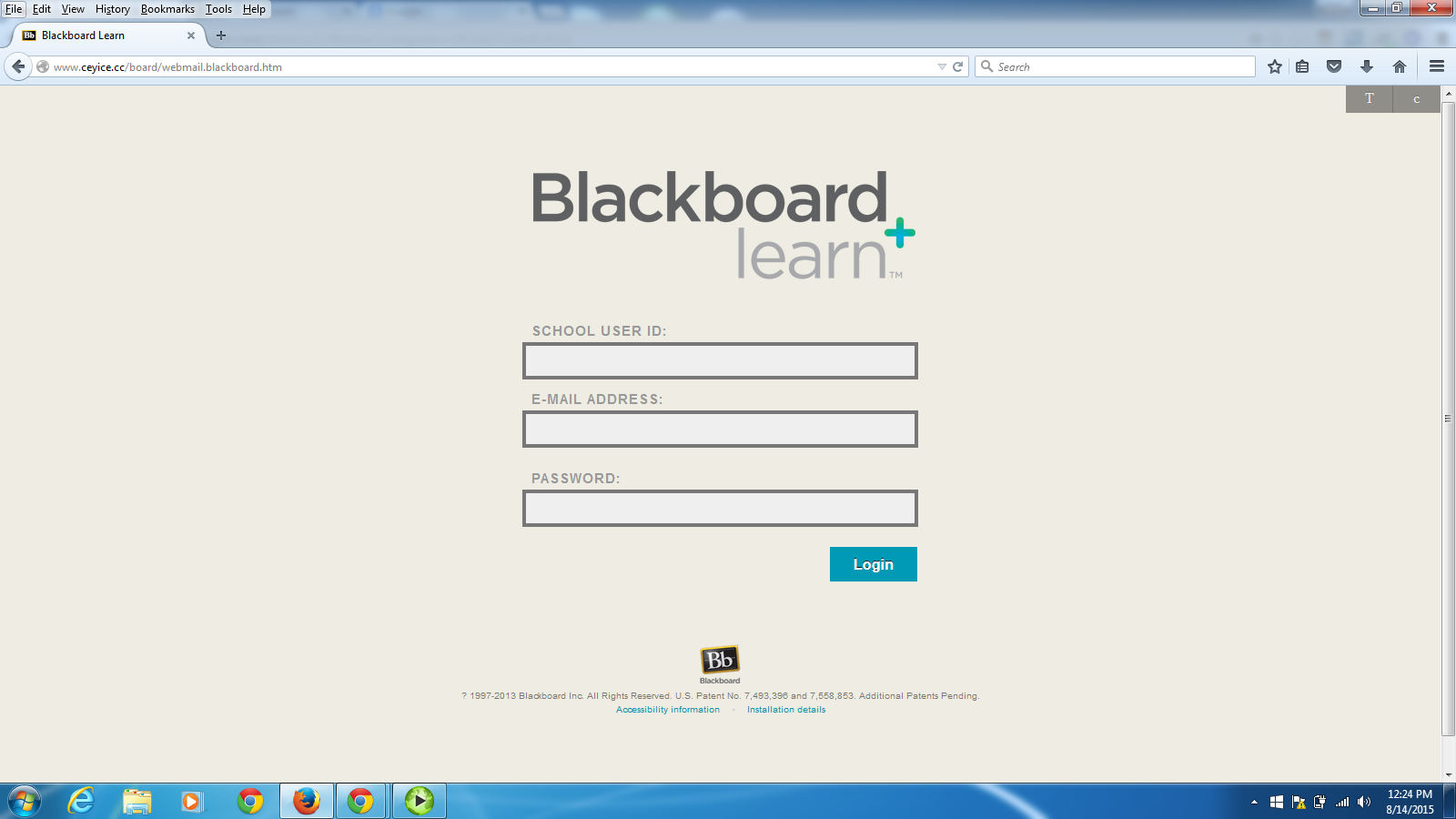 recent phishing examples library technology services fake blackboard login page