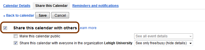Share Google Calendar Outside Organization : Share your primary google calendar with others library
