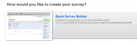 Quick Survey Builder option