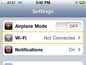 Tap wifi