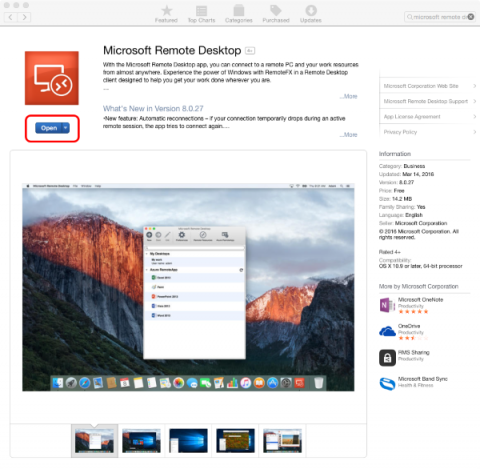 Microsoft Remote Desktop in the App Store.