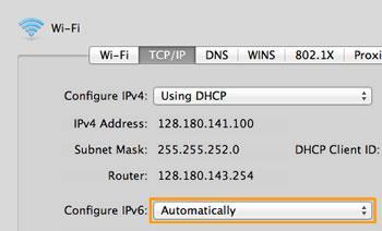 Turn off IPV6