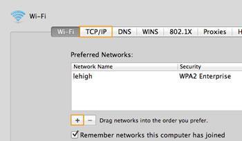 Add network profile