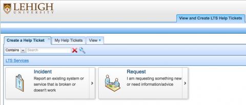 Create a Help Ticket tab