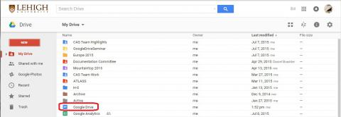 Google Drive List
