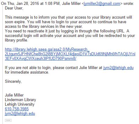scam email addresses