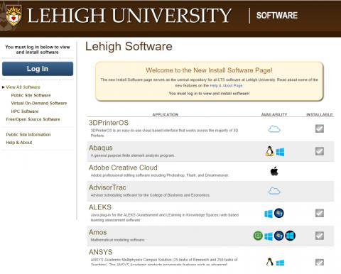 LUIS software installer