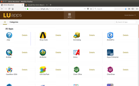 luapps citrix receiver storefront with icons