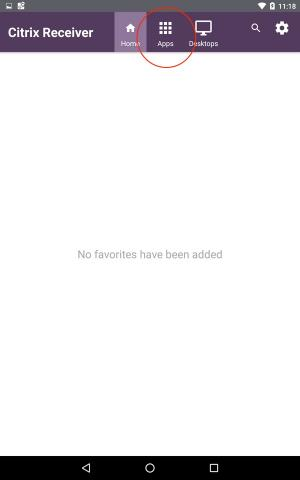 empty favorites page