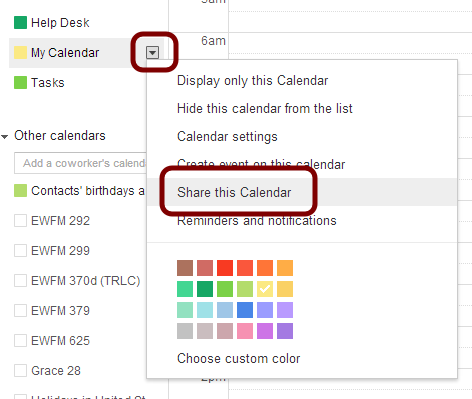 remove a user from your google calendar library technology services