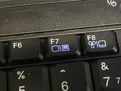 picture of keyboard's display switch key