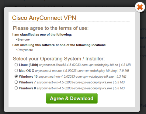 cisco anyconnect vpn agreement