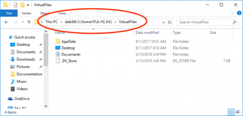 VirtualFiles folder