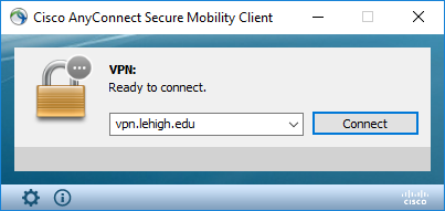 Cisco AnyConnect connect prompt