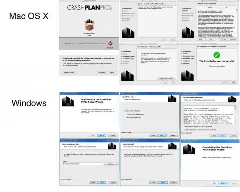 crashplan installer screens