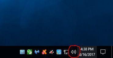 taskbar sound icon