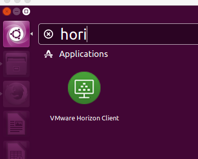 screenshot of linux horion icon