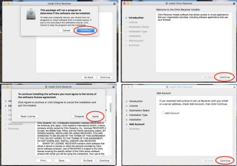 installer screens for mac citrix client installer