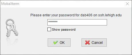 enter gateway host password