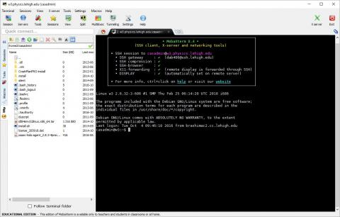 session window with prompt