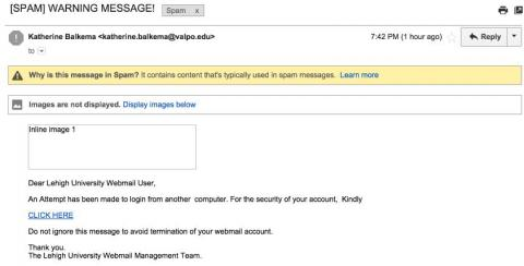 Fake Webmail Security Message