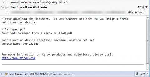 Xerox Scan Fraud