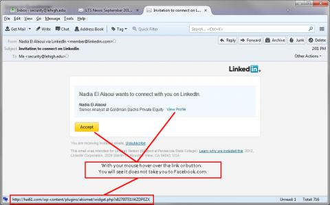 Fake LinkedIn Announcement