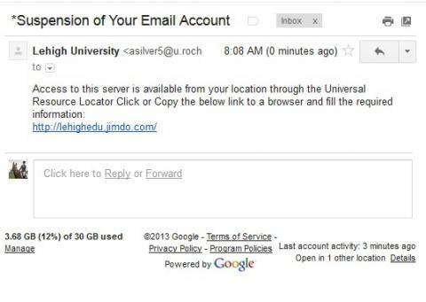 Email Suspension