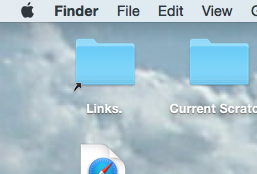 Finder application tiltle on Mac