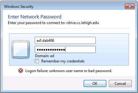 windows password dialog