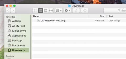 installer disk image file in downloads folder