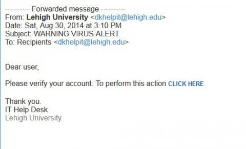 Verify your account