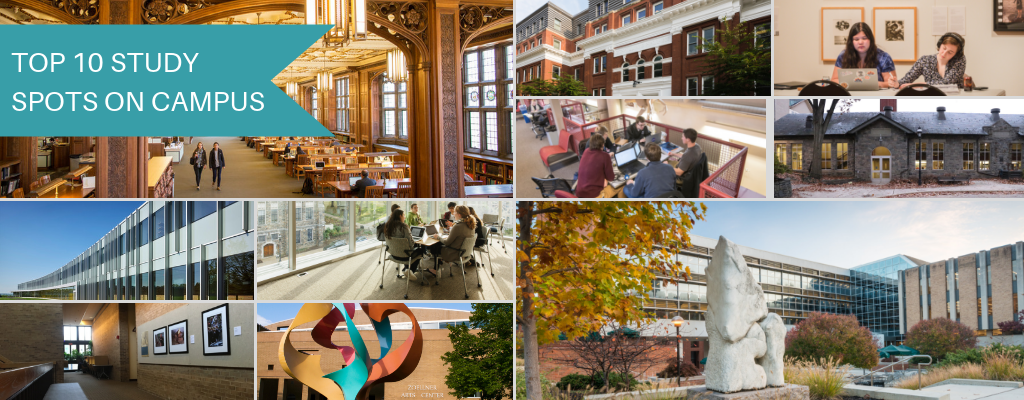 photo of top 10 study spots on campus