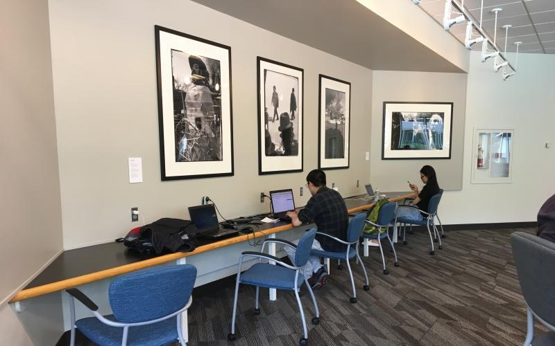 EWFM Library 4th floor northwest with artwork