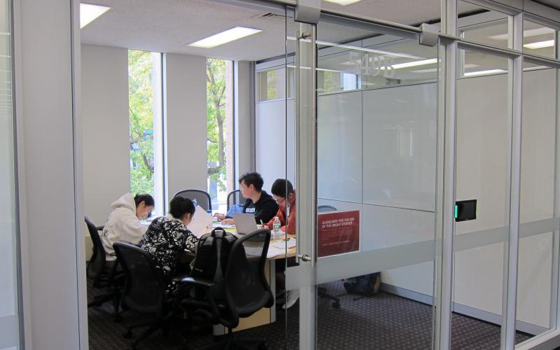 EWFM 5th floor group study rooms