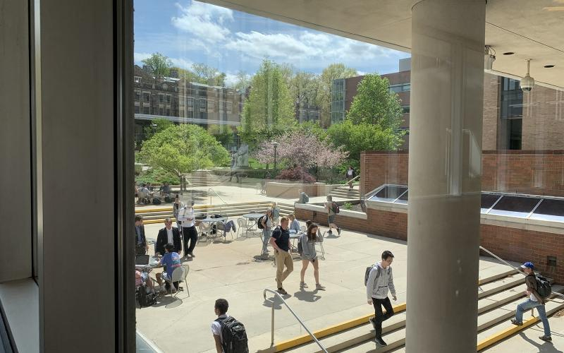 EWFM Patio west from library