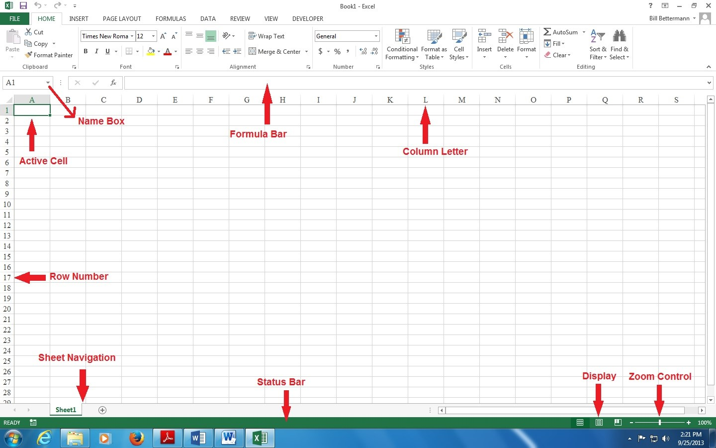 microsoft excel 2013 basics elements of excel screen library